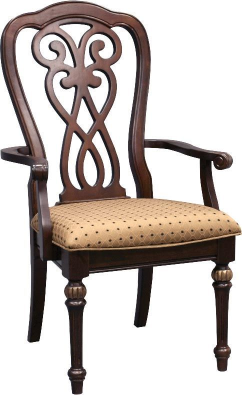 Newcastle Arm Chair - This traditional dining room chair will bring out the best of your dining area!