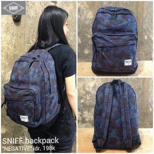 "SNIFF backpack ""NEGATIVE"" idr. 198k 