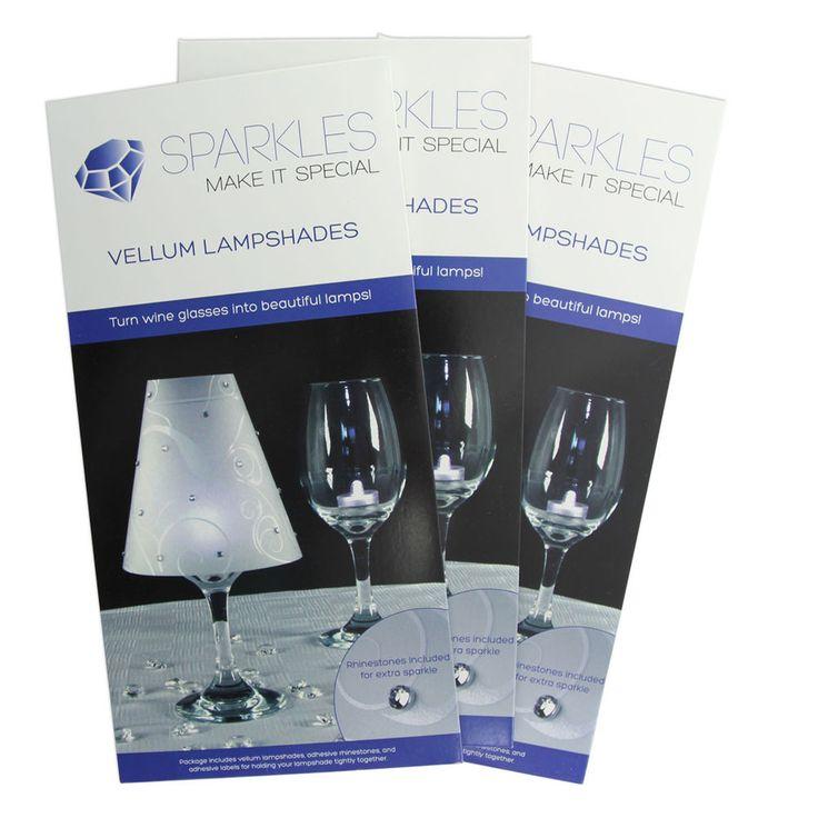 72 Wine Glass Lamp Shades Rhinestones Wedding Party Table Centerpiece Decoration