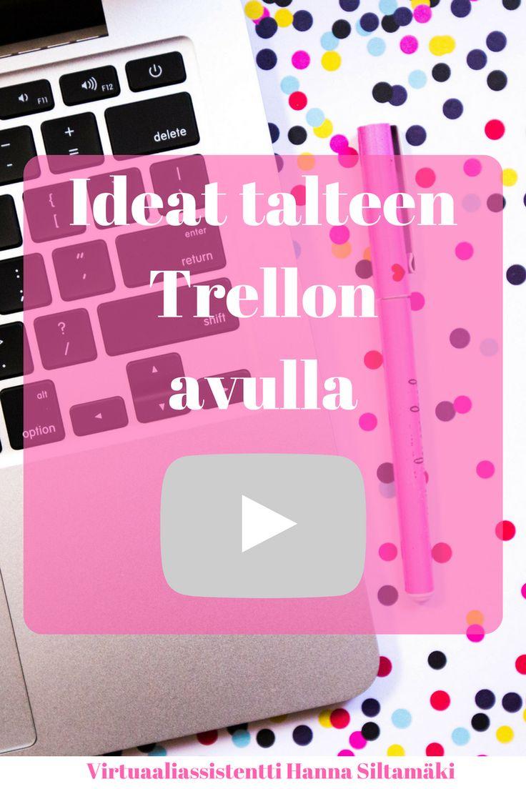 Ideat talteen Trellon avulla. Miten pidät blogiteksti ideat järjestyksessä? Katso videosta vinkit! #blogi #youtube #bloggaus #trello #idea