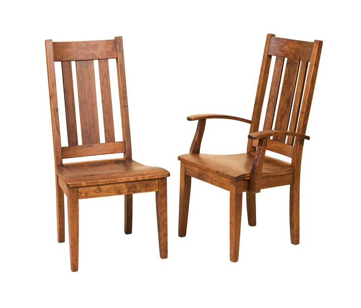 the jacoby dining chair is shown in a cherry the jacoby dining chair is a