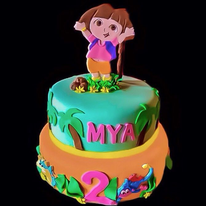 Dora the Explorer 2nd Birthday Cake
