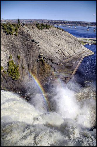 Montmorency Falls . Quebec Canada