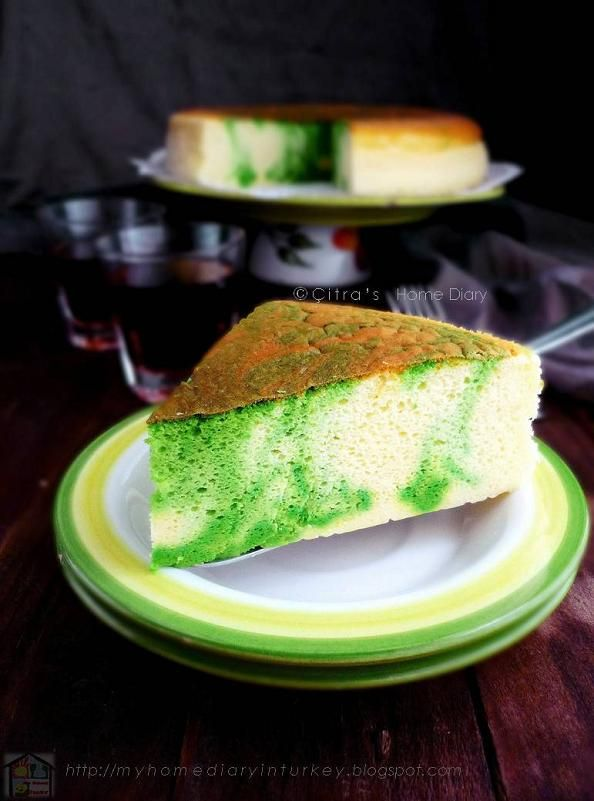 Citra's Home Diary: Matcha Marble Japanese Cheesecake Recipe