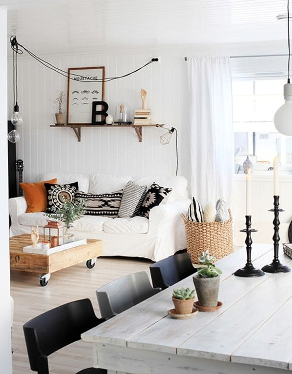 8 best minimalist bohemian nordic style decoration images on pinterest living room ideas. Black Bedroom Furniture Sets. Home Design Ideas