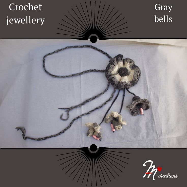 Excited to share the latest addition to my #etsy shop: Crochet jewellery - Gray bells #jewelry #necklace #handmade #gifts #crochetnecklace #jewellery #yarnspirations #yarnstories #yarnart #handmadejewelry #withbeadsknitting #fashion #crochetjewelry #crochet #jewelry #handcrafted #artisan #crochetjewelryforbravewomen #necklace #handcraftedjewelry #handcraftedgifts #onlyforyou #madewithcare #bohojewelry #crochetnecklace #style https://etsy.me/2IA3W58