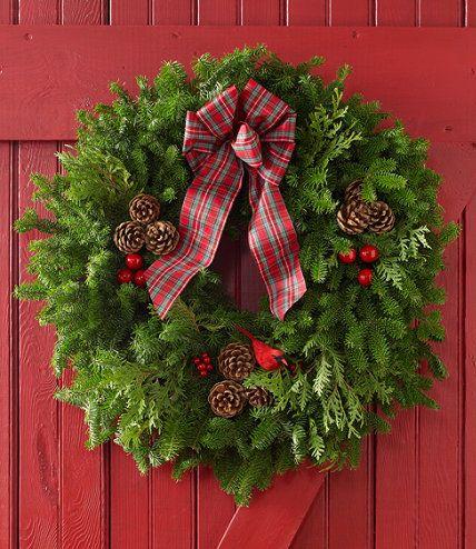 Tartan Fir Wreath: Free Shipping at L.L.Bean
