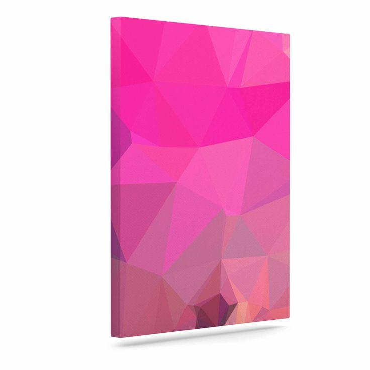 "Oriana Cordero ""Poly-Sunrise"" Pink Purple Canvas Art"