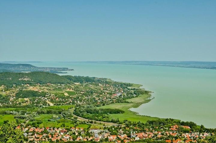 View from the Badacsony hill at Lake Balaton