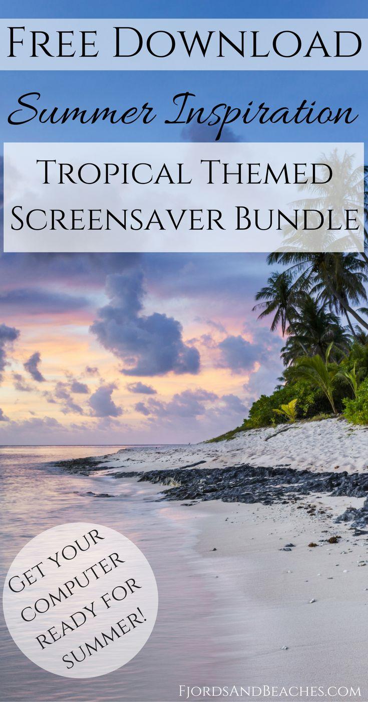 Beach screensaver download. Tropical screensaver download. Summer inspiration. Tropical inspiration. Screensaver tropical. Beautiful screensaver.