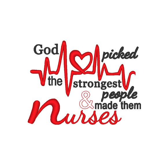 142 best nurse stuff images on pinterest nurses nursing and my world god picked the strongest people and made them nurses embroidery design complete with heartbeat symbol fandeluxe Choice Image