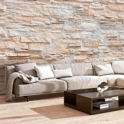 Die besten 25+ Tapete steinoptik Ideen auf Pinterest Steinoptik - fototapete wohnzimmer braun