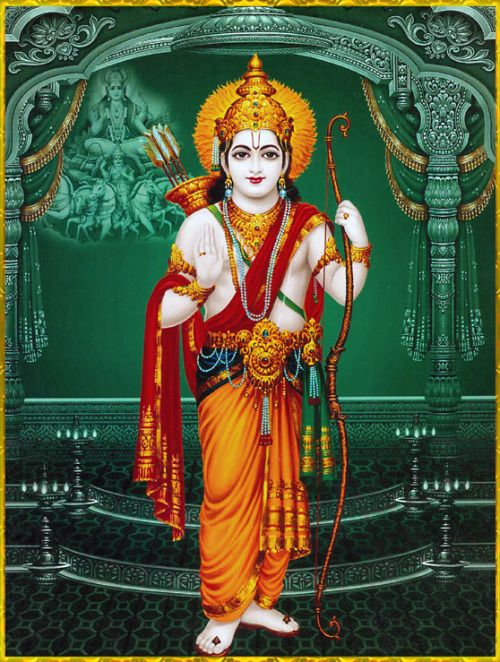 """SHRI RAMACHANDRA ॐ Sukadeva Goswami said: """"O Maharaja Pariksit, best of the Bharata dynasty, during the reign of Lord Ramachandra the forests, the rivers, the hills and mountains, the states, the seven islands and the seven seas were all favorable in supplying the necessities of life for all living beings.""""~Srimad Bhagavatam 9.10.52"""