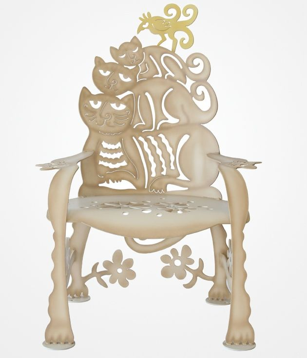 White Cat seat - Cricket Forge Furniture & Decor – Handcrafted Work Of Art | DROOL'D