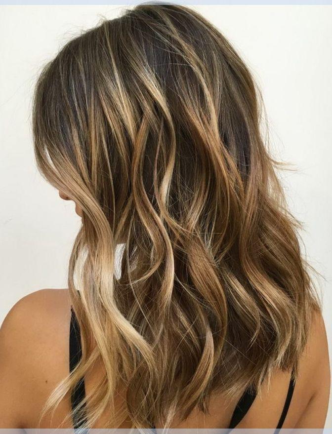 Braune Haarfarbe Mit Karamell Blonde Honig Balayage