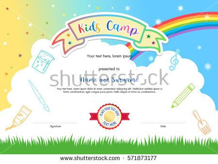 11 best KIDs images on Pinterest Certificate templates, Kid summer