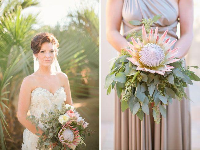 protea bridesmaid bouquet