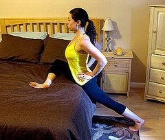 Standing Pigeon Bed Stretches: For Tight Hips. Loosening the hips corrects posture problems, and relieves sciatica issues.