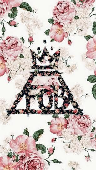 Darker floral FOB phone background, Fall out boy, flowers, girly
