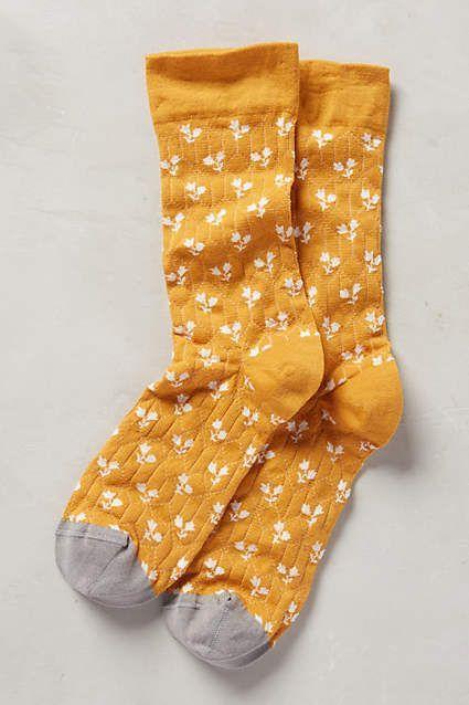 Paired Posy Socks - anthropologie.com