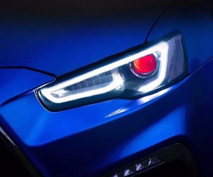 536.75$  Buy now - http://alitq6.worldwells.pw/go.php?t=32748779928 - Custom Modify Halo Black Projector LightBar For Mitsubishi Lancer 2010 2011 2012 2013 2014 Headlights Lamp A5 Design
