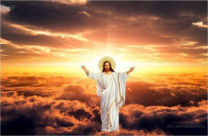 Иисус Христос, слава богу, воскрес, восхождение, воскресение, христианство, облака