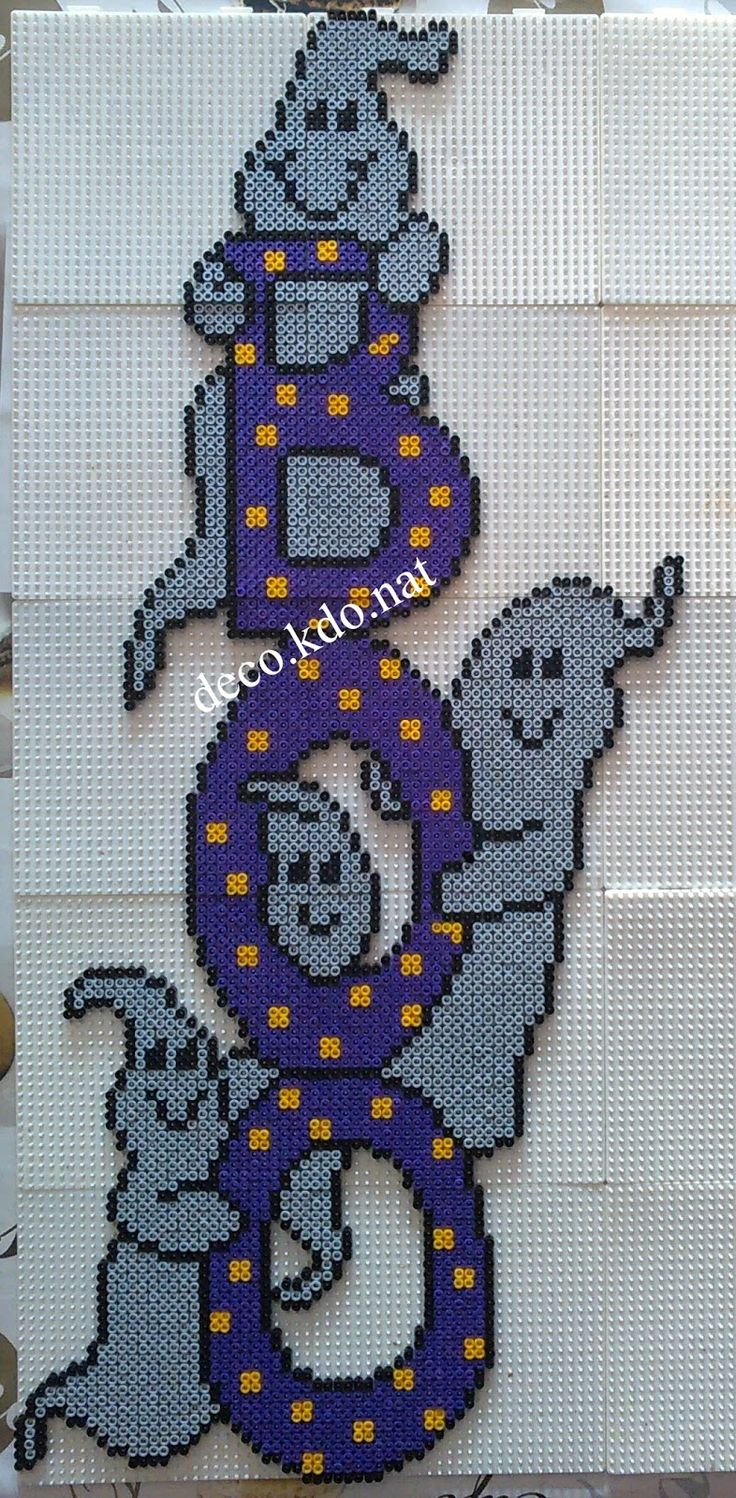 Boo Ghosts Halloween hama perler beads by DECO.KDO.NAT