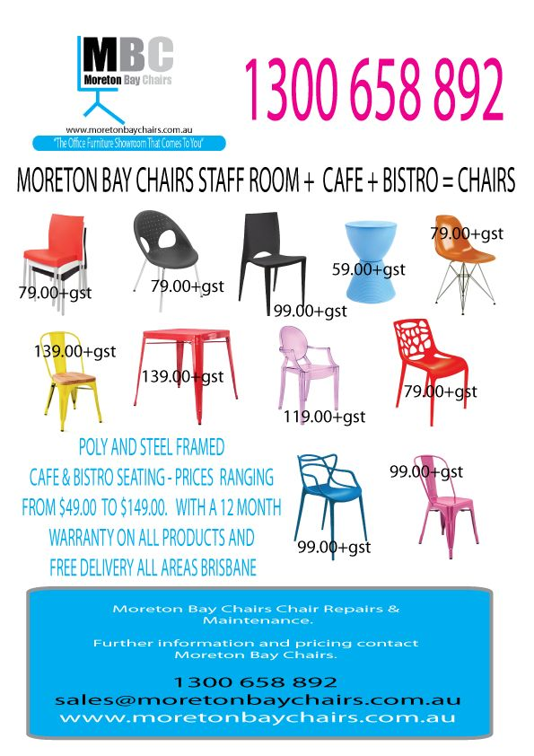 Moreton Bay Chairs staff room + cafe + bistro tables and chairs now in stock and ready for free delivery all areas Brisbane.