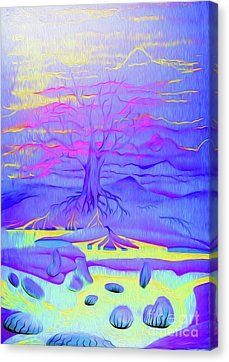 Tree Of Life - Fantasy Art Canvas Print by Simon Mark Knott