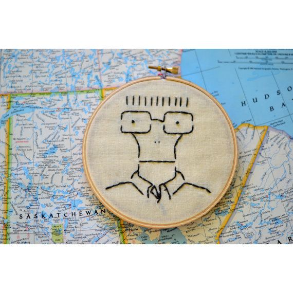 Milo The Descendents / hardcore punk embroidery / 5 by realswanky