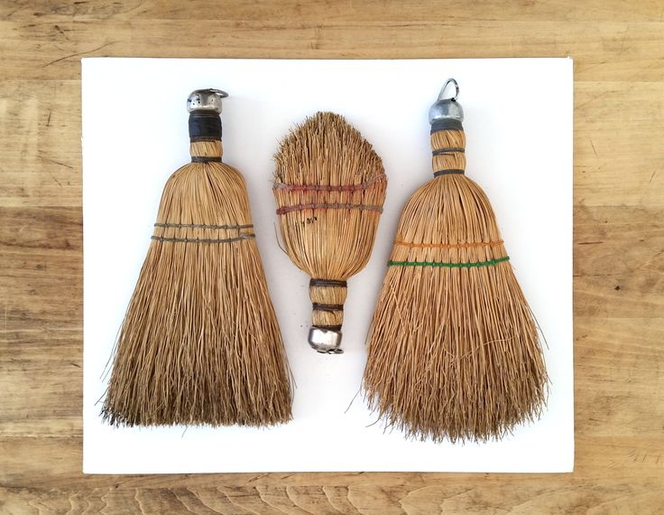 Antique Whisk Brooms . Three Vintage Brooms . Rustic Cabin Decor . Primitive Display . Wall Decor . by 3WrenStreet on Etsy