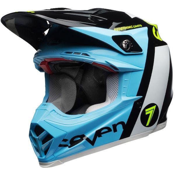 Bell Moto 9 Carbon Flex Helmet Seven Flight Matte Aqua Helmet Motorcross Helmet Bell Moto