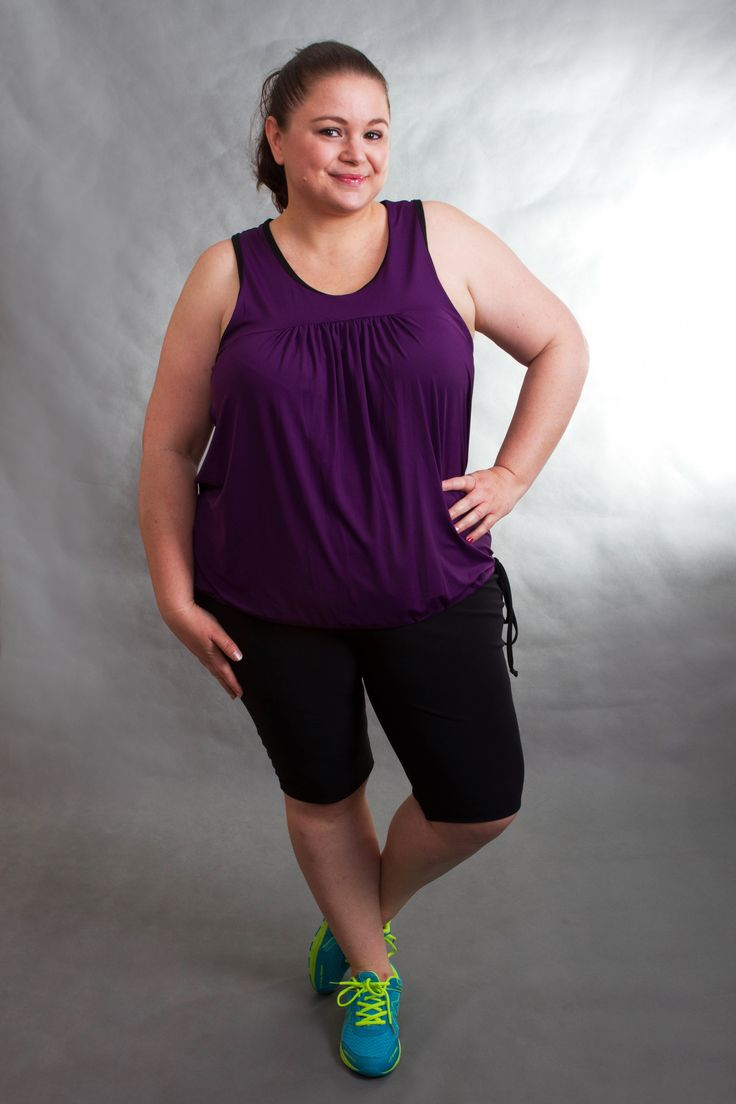 www.loveandsweat.com.au Love and Sweat, Plus Size Activewear. Sizes 14-24. Racy Racer Back Singlet with side tie, and Intense Support 1/2 Pant. SO soft, comfortable and breathable. Great for any sport or activity, as you can adjust the length with the singlets side tie.