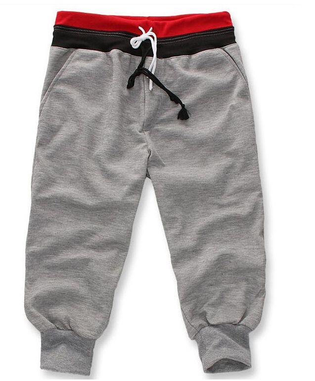 Aliexpress.com: Comprar 2015 marca moda para hombre deporte ocasional al aire libre Joggers pantalones pantalones sólido de lino del remiendo del Color del ocio hombres de cortos proveedor fiable proveedores en A&W Fashion store