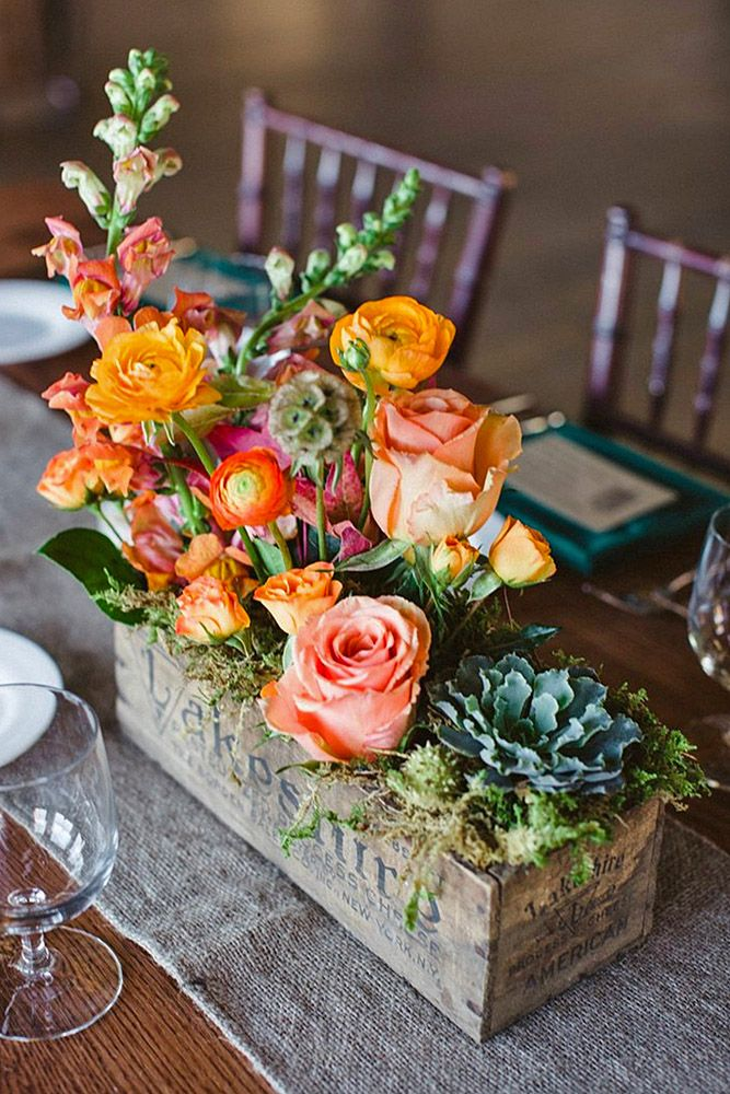 Rustic Wedding Centerpieces Fancy Ideas ❤ See more: http://www.weddingforward.com/rustic-wedding-centerpieces/ #weddingforward #bride #bridal #wedding