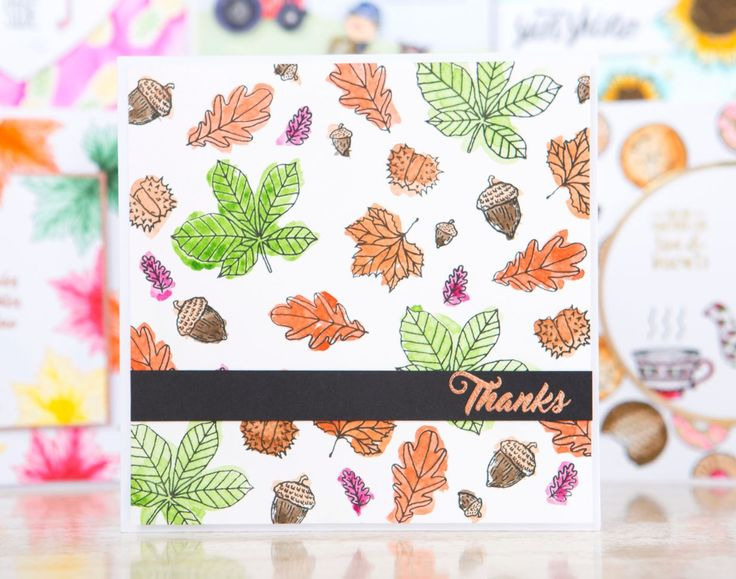 Autumnal card design made using the For the Love of Stamps Ultimate Bundle from @hunkydorycrafts! Shop the range at C&C! / cardmaking / stamping / papercraft / craft / scrapbooking