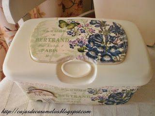 Dispensador romántico de Toallitas húmedas : Cajas de Caramelos