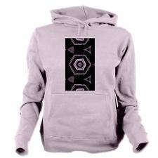 Womens Hooded Sweatshirt cool black and white pattern #sweatshirts #womenswear #cool #clothing #cafepress #fotosbykarin