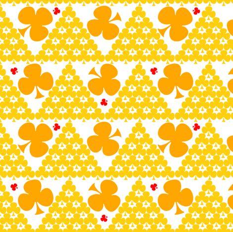 Fiaba Orange Clover fabric by fiaba_fabrics on Spoonflower - custom fabric