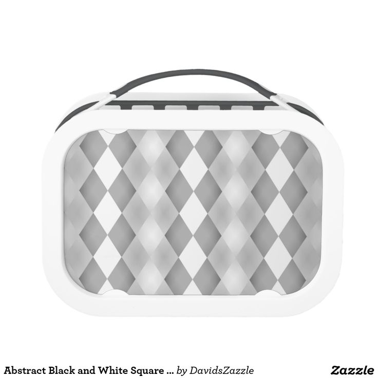 Abstract Black and White Square Pattern Lunch Box  Available on more products! Type in the name of the design in the search bar on my Zazzle Products Page. Thanks for looking!  #abstract #pattern #rectangle #square #black #white #grey #gray #buy #sale #zazzle #art #digital #style #life #lifestyle #accessory #accent #chic #contemporary #modern #lunch #box #work #office #job