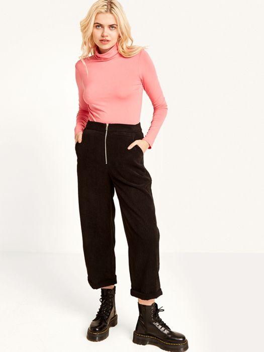 ad6d2e162c Black Cord Zip Front Trouser Pant | Nobody's Child Trouser Pants, Wide Leg  Trousers,