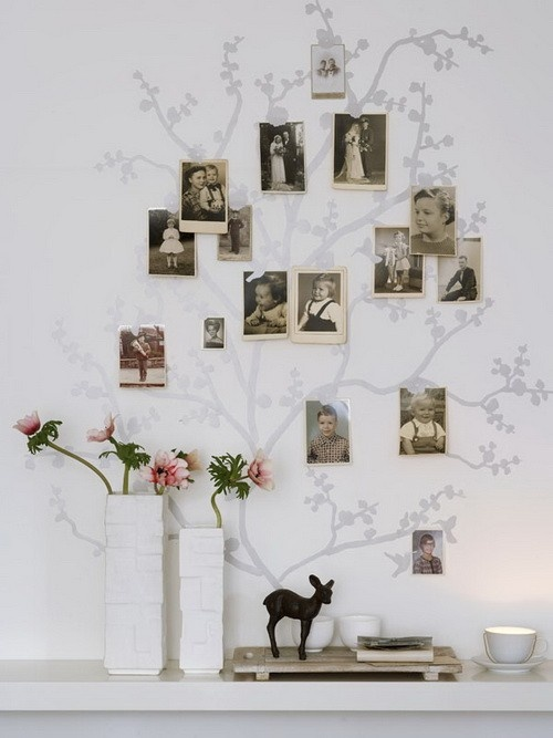 Cute way to display old family pics