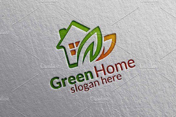 Green Home , Real estate logo by denayunebgt on @creativemarket