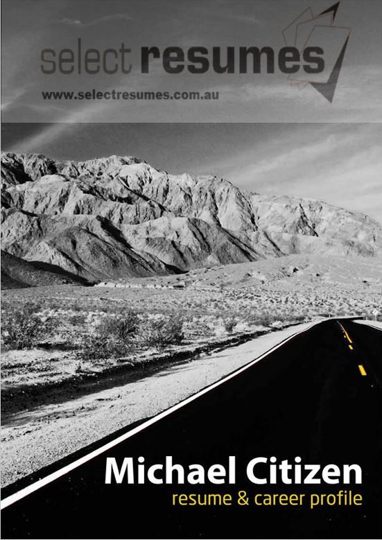 Dramatic resume cover for transportation and mining industry from Select Resumes. See our website for more examples.