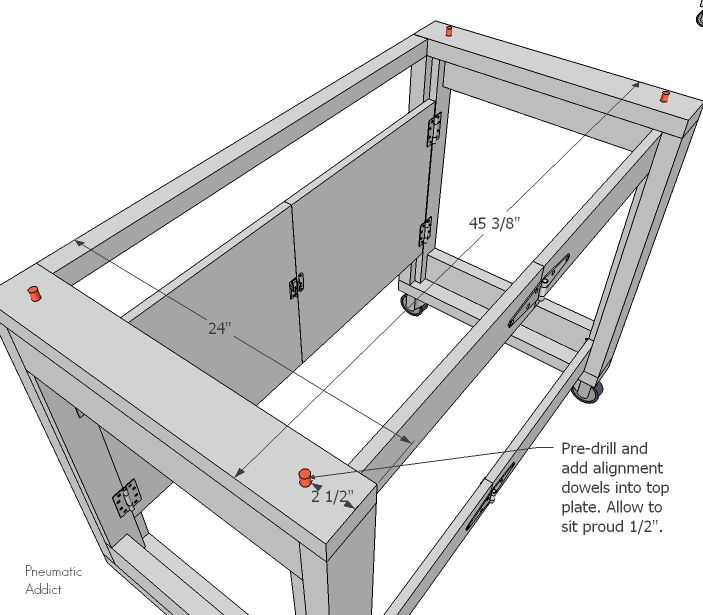 Folding Mobile Workbench Video Tutorial With Images Mobile