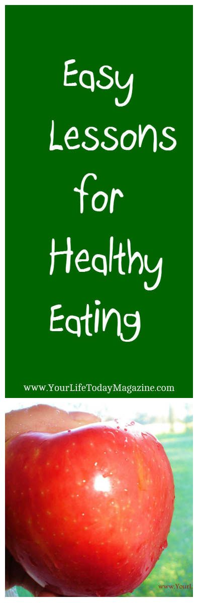 Eat healthier this year! Easy lessons for healthy eating with easy recipes, snack ideas and tips.