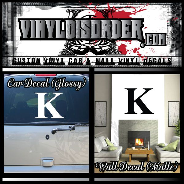Kappa Fraternity Letters Sorority Letters Greek Letters Wall Decal - Vinyl Decal - Car Decal - 010