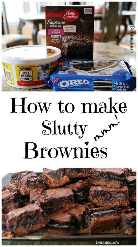 OMG! So good! 5 stars How to make slutty brownies - Debbiedoos