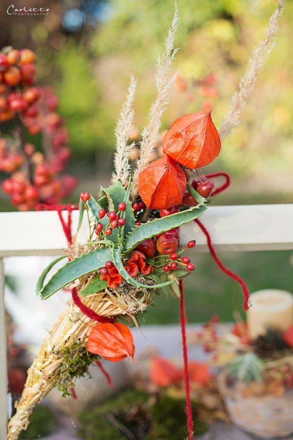 Herbst, draußen Essen, autumn, fall, nature, Natur, dinner, dekoration, decoration, diy, leaves, berries, outside, familydinner