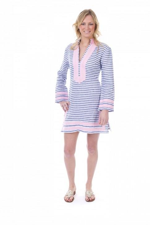 All Aboard striped tunic